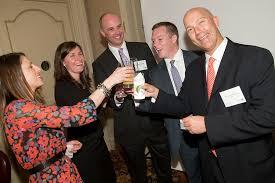 financial advisors toasting